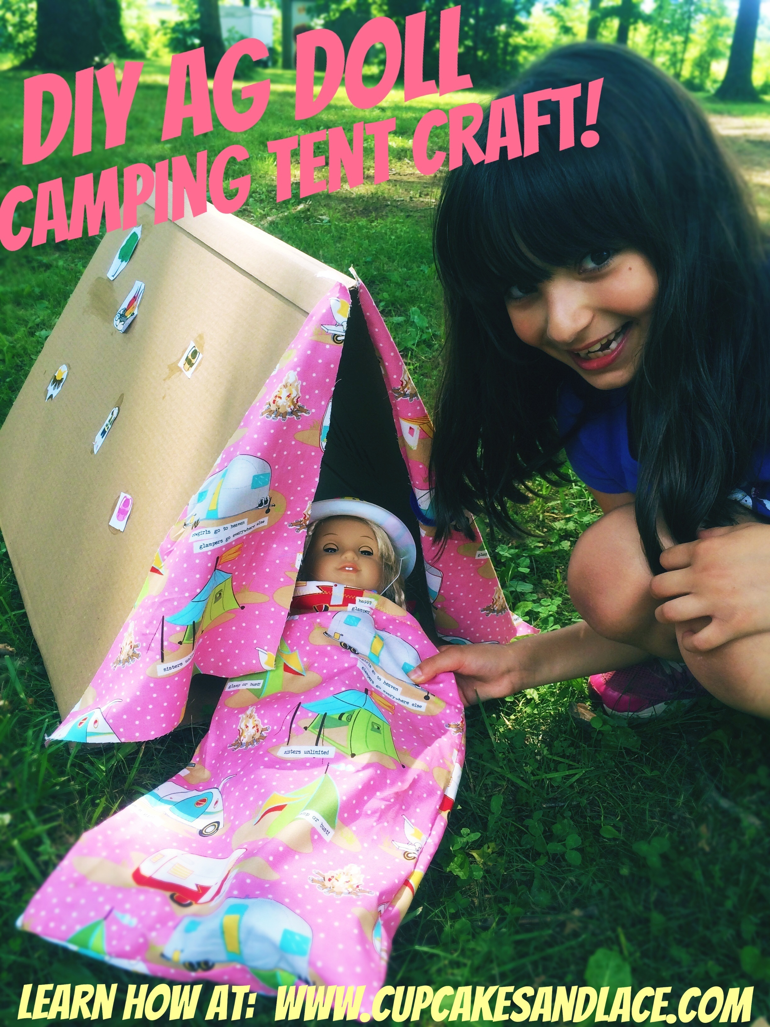 Cupcakes and lace diy 18 american girl doll camping for American girl crafts diy