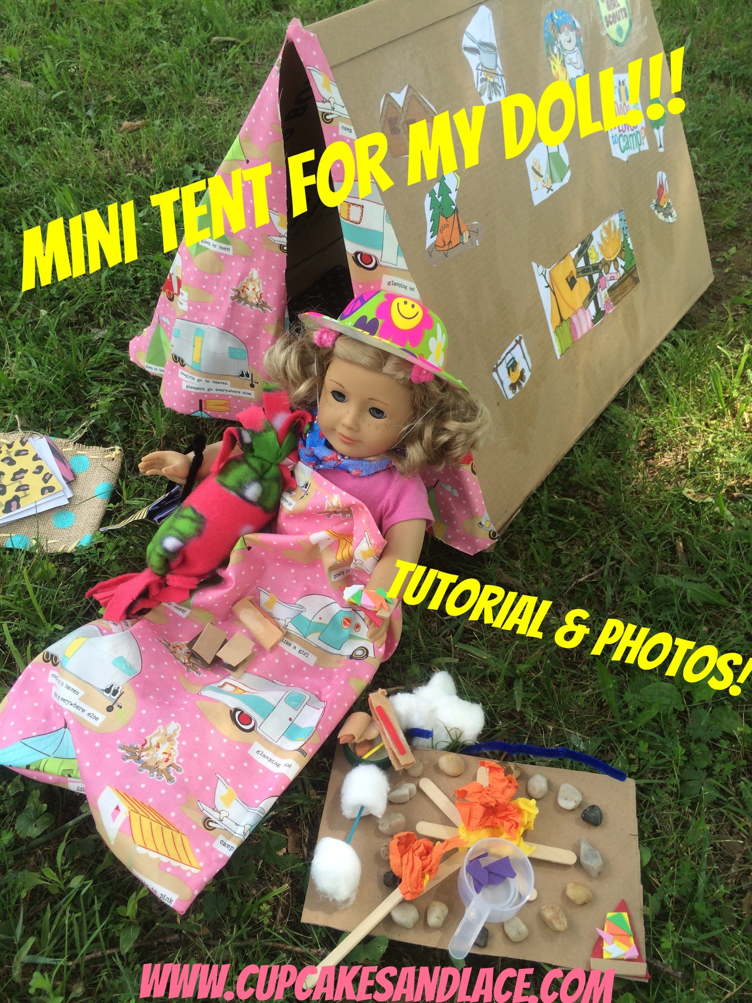 Diy 18 American Girl Doll Camping Tent Craft Tutorial