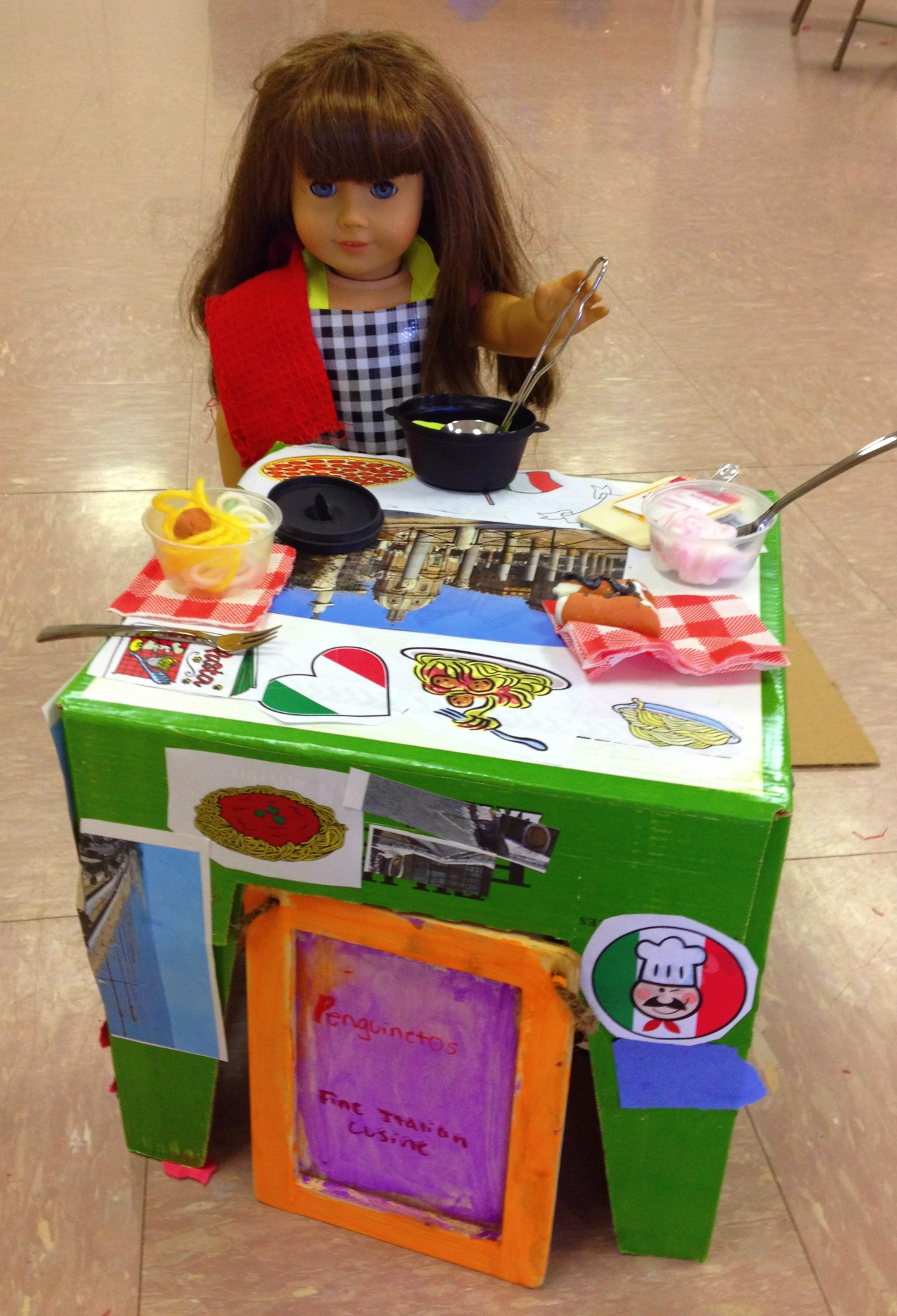 Make your own craft table - Craft Your Own 18 Doll Mini Italian Restaurant Table Food