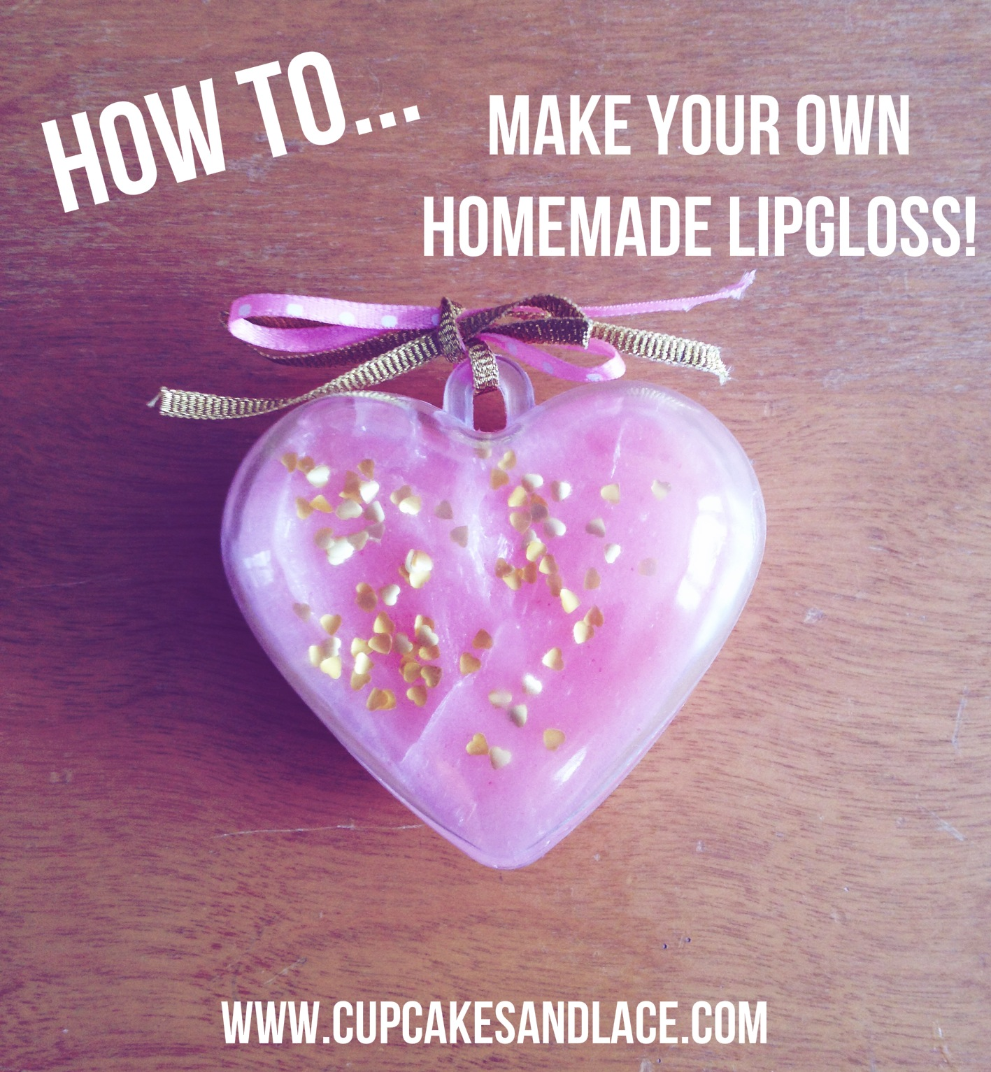 Craft Your Own Homemade Lip Gloss With Cute Edible Gold Hearts