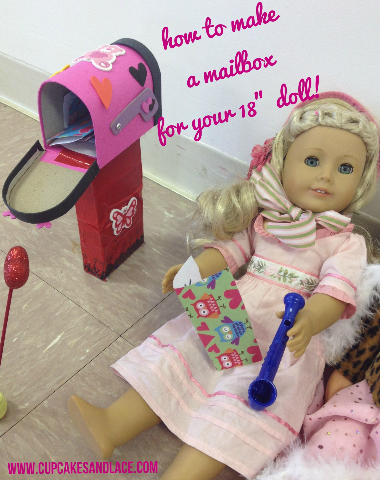 How to Make a Valentine's Mailbox For Your 18'' American Girl Doll
