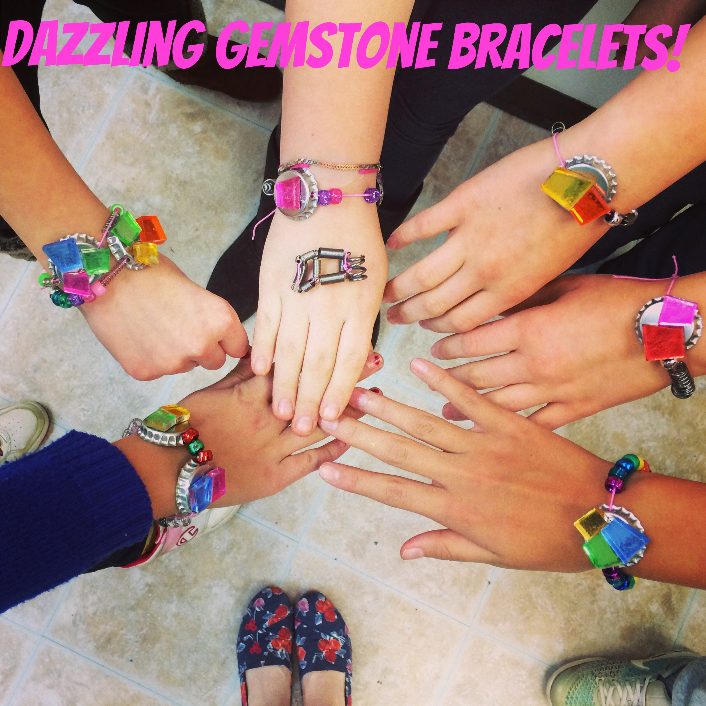 Cupcakes and lace diy girls gemstone bottlecap bracelet girl girl scout troop working towards earning your jeweler junior badge or do you just love making super cool jewelry cupcakesandlace solutioingenieria Choice Image