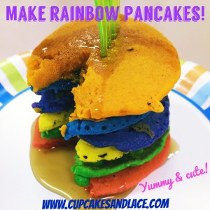 Cupcakes and Lace Rainbow Pancakes Simple Meals Junior GS Badge Idea