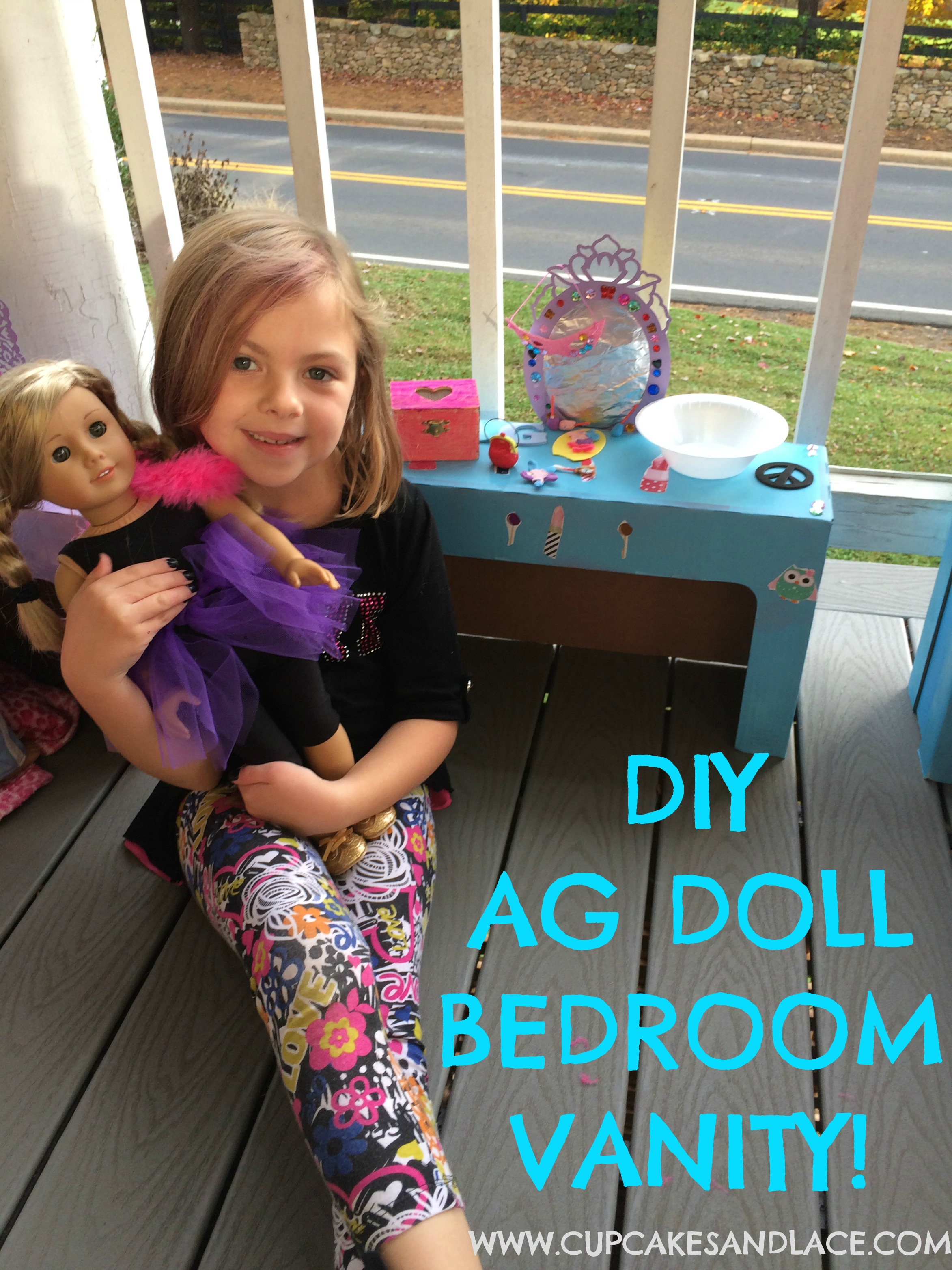 Craft Your Own American Girl Doll Bedroom Vanity Cupcakes Lace