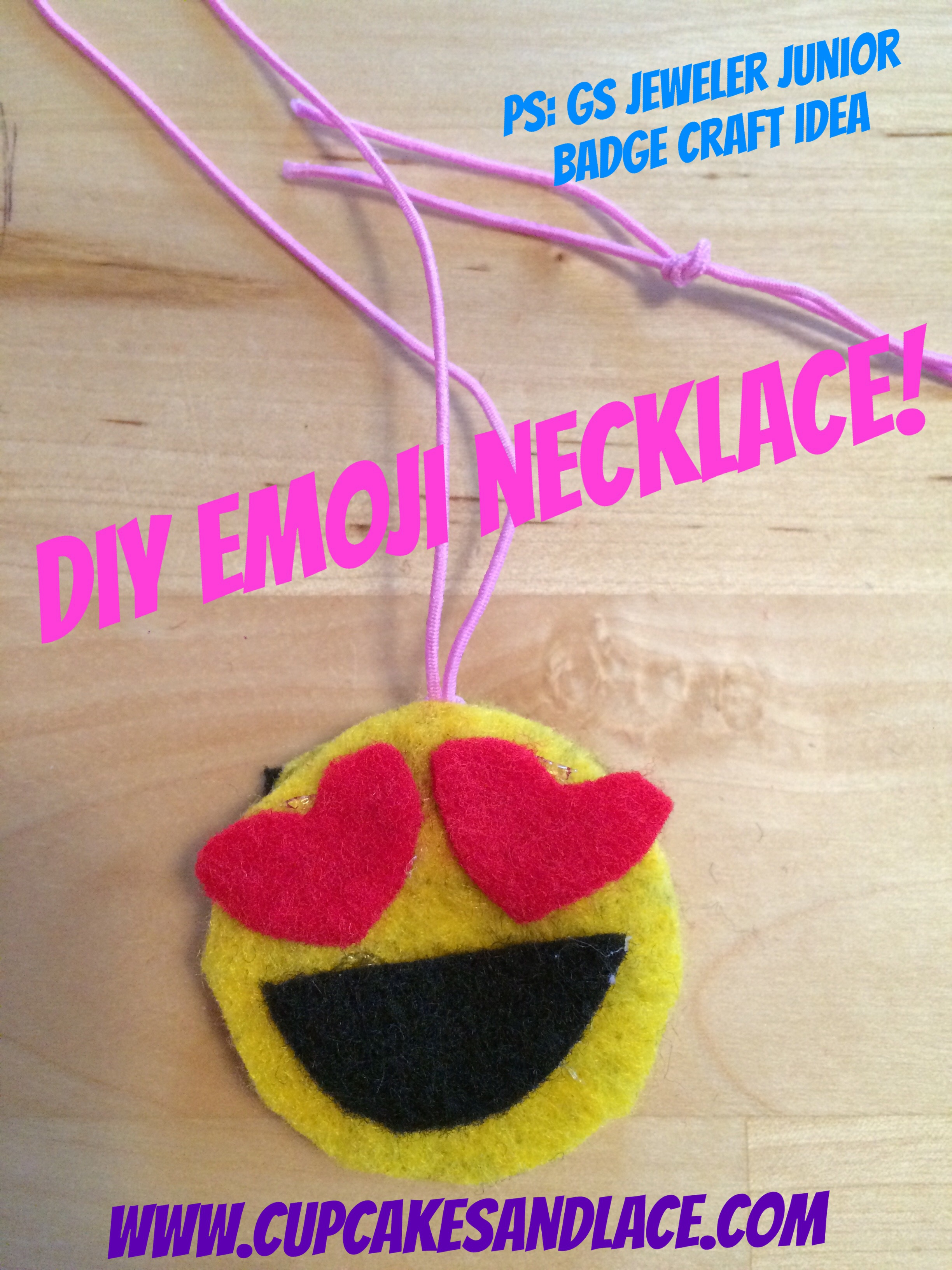 Diy Kids Tween Emoji Necklace Craft Jeweler Junior Badge Craft