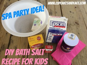 Cupcakes and Lace Kids Bath Salts Recipe....more kids sewing and crafting ideas and monthly crafting e-letter at:  www.cupcakesandlace.com