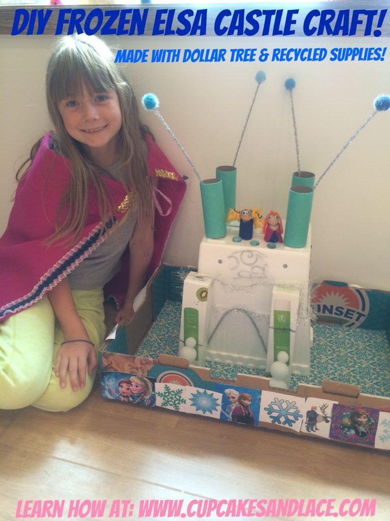 Diy Frozen Elsa Princess Castle Craft Using Dollar Tree