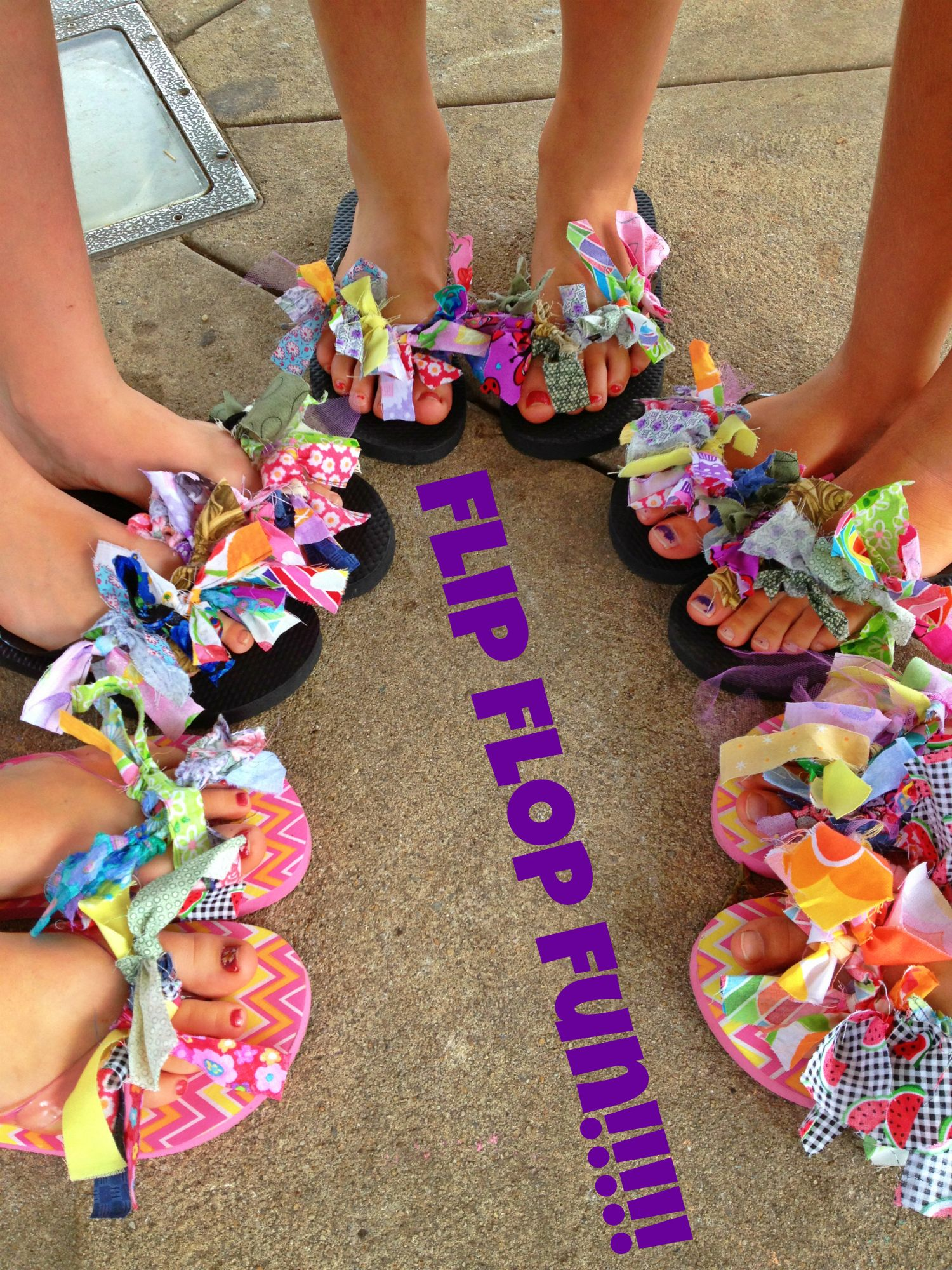 Diy Kids Flip Flop Tutorial Reuse Fabric Scraps
